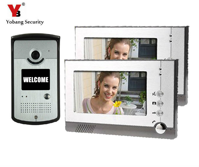 Yobang Security Color Screen video door phone system unit Night Vision Doorbell Home Security porteros electricos con camaras