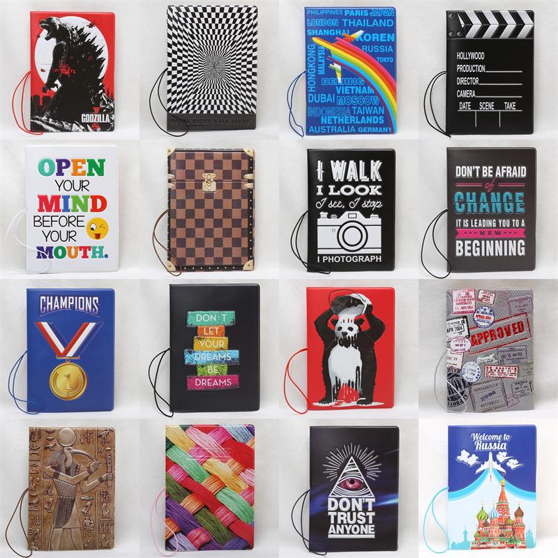 2018 New arrival New pattern Passport Covers Fashion style PU Leather Credit Card holder Passport Wallets Passport holder 14*10