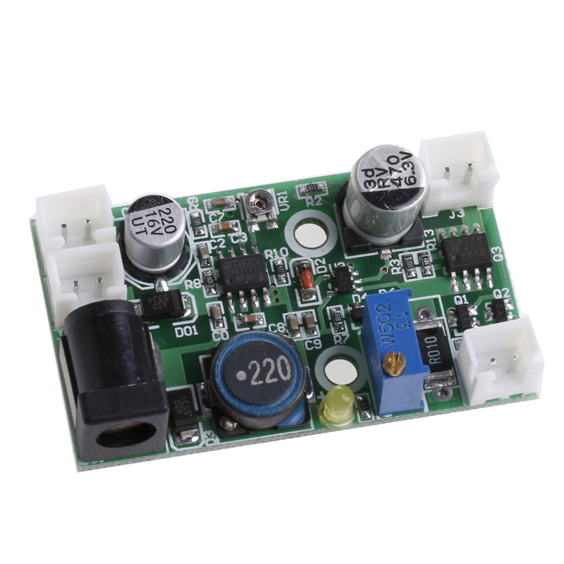 Electronic 12V TTL Step-down Laser Diode LD Power Supply Driver Board Stage 12vdc ttl 1w 2w blue 445nm 450nm laser diode ld driver power supply stage light