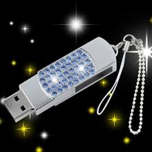 Diamond Jewelry Gift Creativo Memory Stick Usb Flash Drive 2.0 Pendrive 2TB 1TB Pen Driver 64GB Usb Stick Pen Drive 32GB 16GB