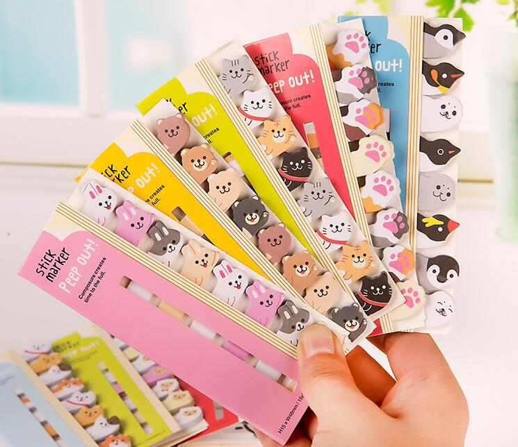 Notebooks & Writing Pads Responsible Mini Kawaii Cute Cartoon Animals Panda Cat Penguin Finger Unicorn Memo Pad Decorative Diary Sticker Stationery School Supplies Products Hot Sale
