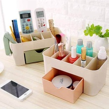 Simple Modern Jewelry Cosmetics Storage Box Drawer Plastic Office Desk Dressing Table Skin Care Products Lipstick Finishing Rack desktop multi color skin care products finishing box home dressing table cosmetics storage plastic flower carving