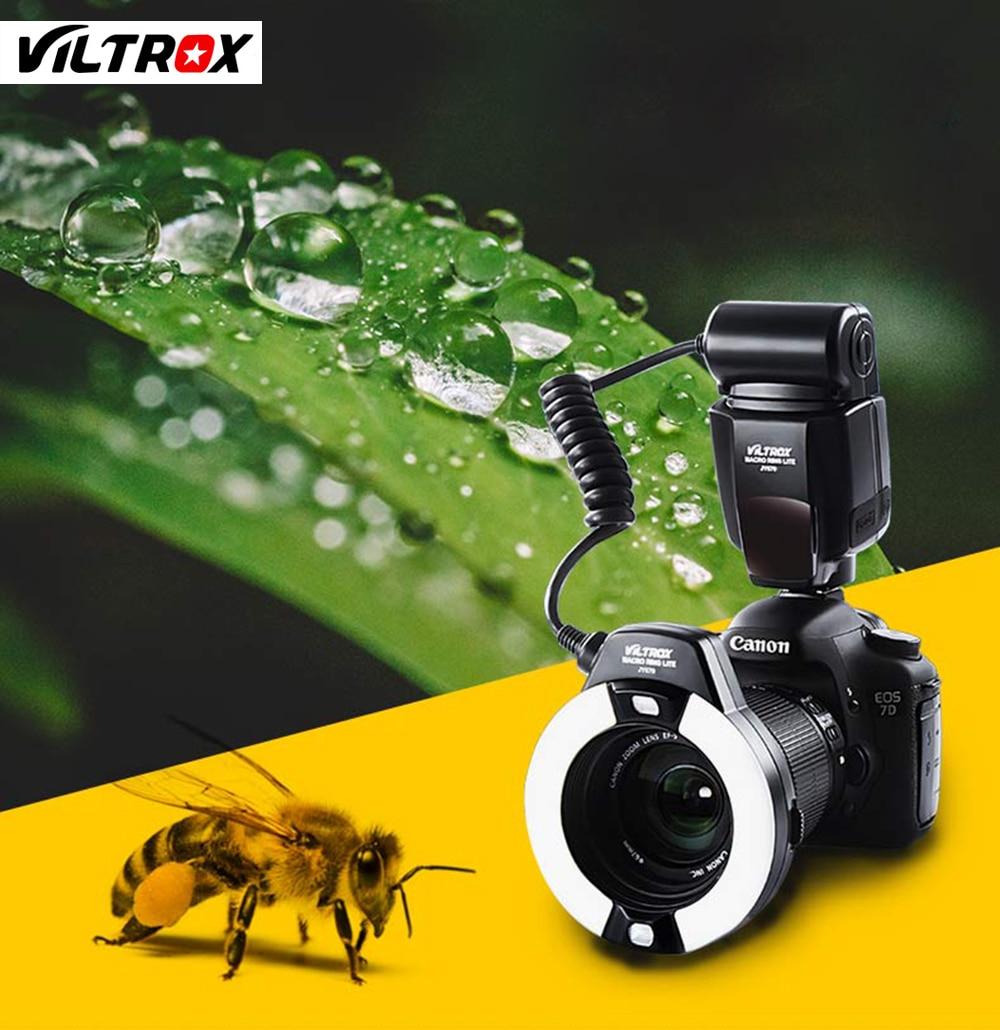 Viltrox JY-670 אוניברסלי LCD מקרוב סגירה טבעת אור פלאש עבור Canon Nikon Pentax אולימפוס DSLR
