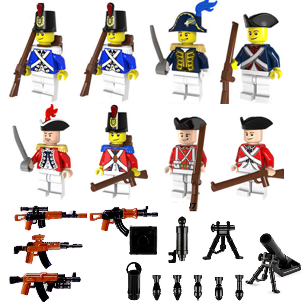 Army Soldier MiniFiguresings Building Block Gun Weapons Model Toy Military Swat Accessories LegoINGLYS Military Ww2 Caribbean