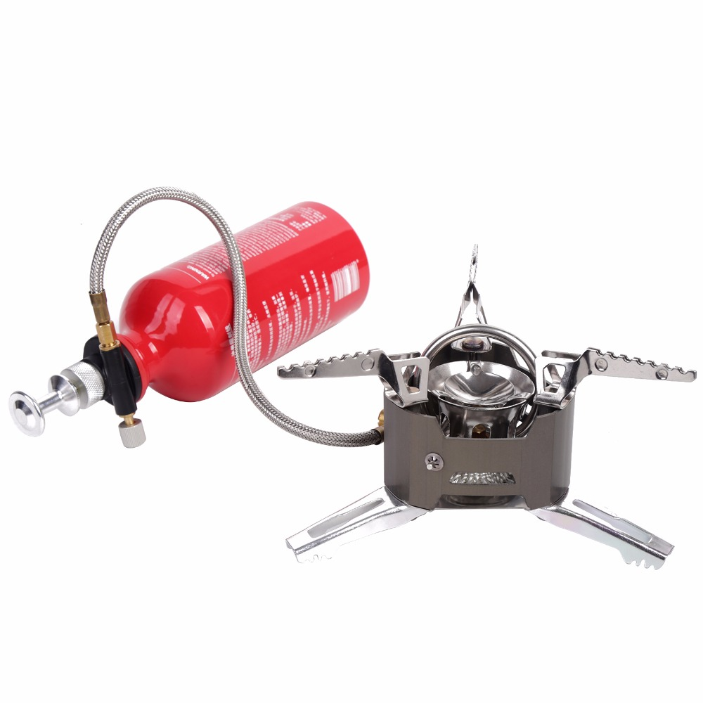 Outdoor Stove Portable Folding Camping Hiking Picnic Stove Oil&Gas 3KW Multi Fuel Stoves Split Burners Camping Cooking stove цена и фото