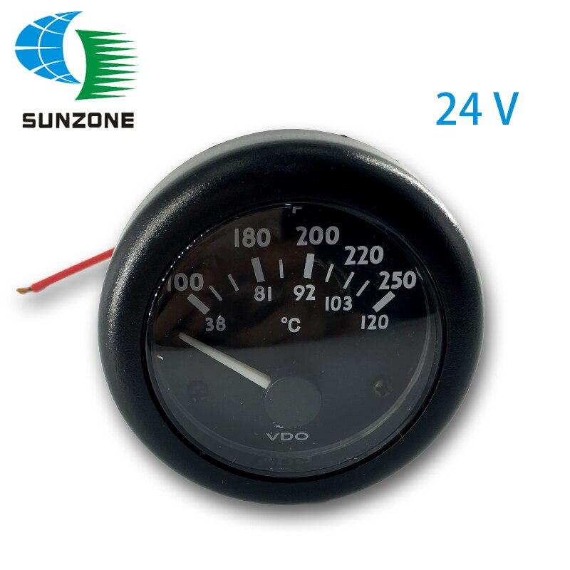 gerador de agua medidor de medidor de temperatura indicador 24v em grupo gerador diesel para vdo