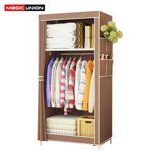 Magic Union Simple Wardrobe Student Dormitory Single Wardrobe Storage Closet Finishing Storage Cabinet Steel Tube Wardrobe