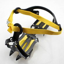 Strap Type Crampons Ski Belt High Altitude Hiking Slip-resistant 10 Crampon Ice Gripper for Winter Outdoor Skiing