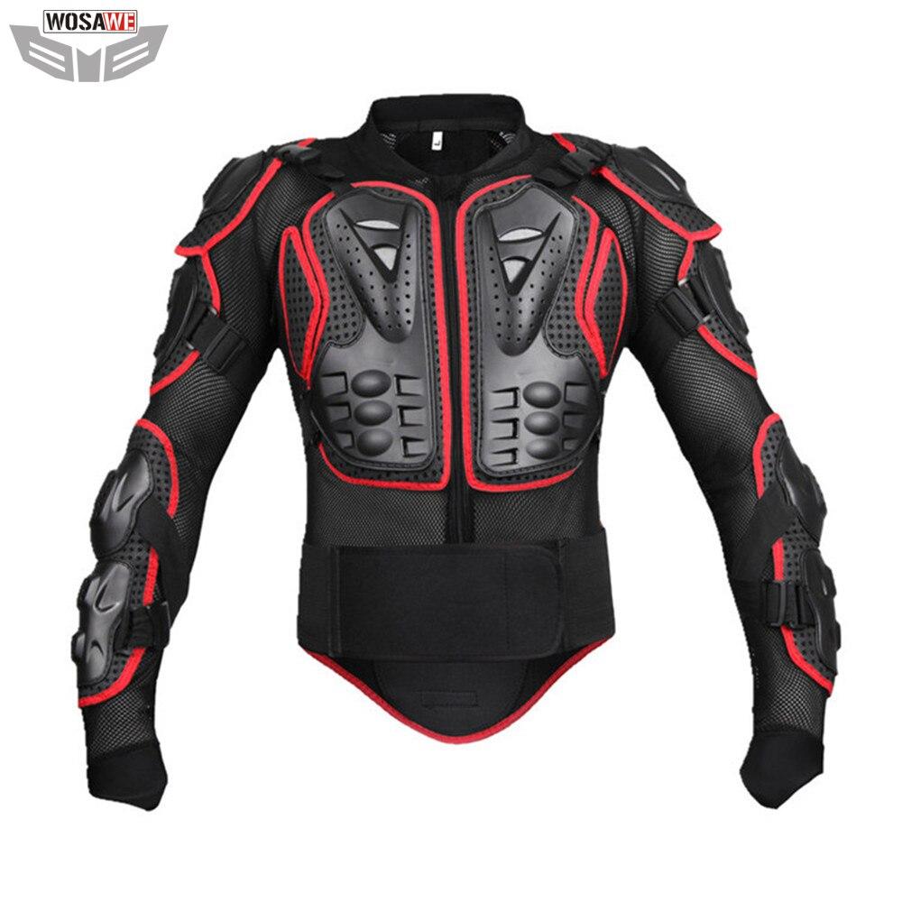 Wosawe protecteur d'armure corporelle de MOTO soutien dorsal de Motocross veste de Protection de poitrine de colonne vertébrale MOTO équipement de Protection hors route