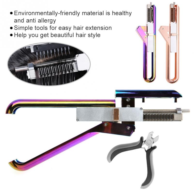 Pro 6D No-trace Hair Extension Machine Natural Real Hair Style Wig Connector Quick Extension Tool Kit salon hair styling tools graceful short side bang fluffy natural wavy capless human hair wig for women