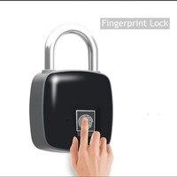 Su geçirmez Anahtarsız parmak izi kilidi USB Şarj Edilebilir Akıllı Anti-hırsızlık güvenli asma kilit Kapı valiz Kilidi