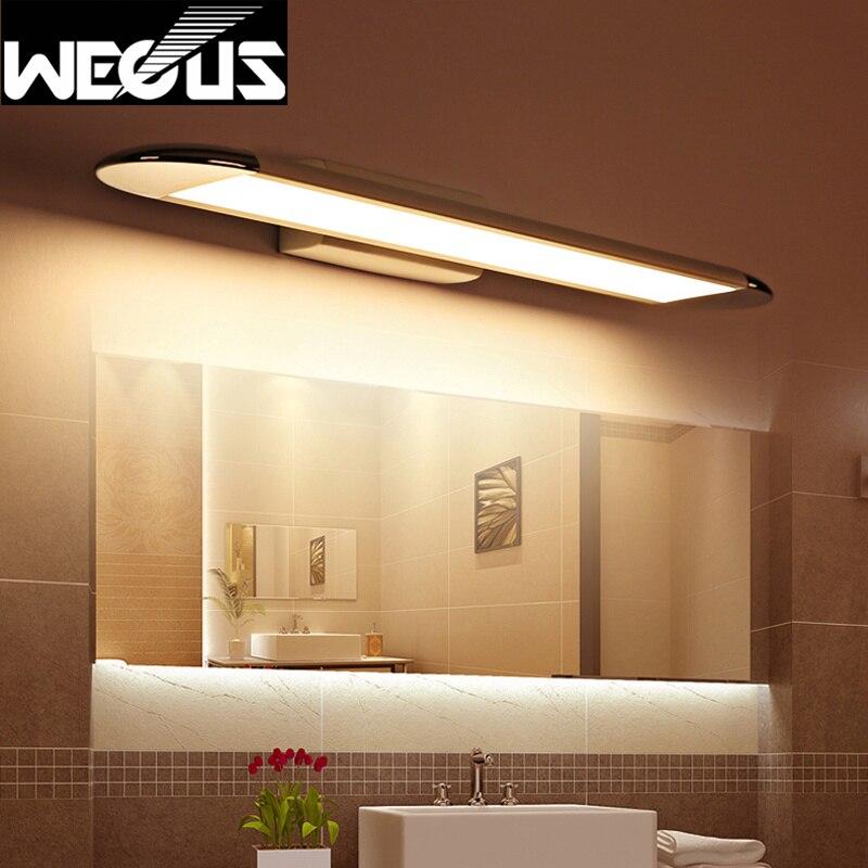 Rotatable mirror front light waterproof anti fog bathroom for Waterproof bathroom cabinets