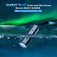 AZISHN Full HD Starlight level CCTV Mini camera 2MP 1080P 1/4 SONY TVI, CVI, AHD, CVBS security underwater IP68 M2C1826SE