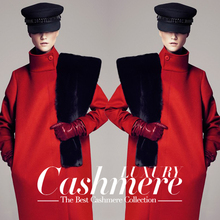 red high quality thickening double-faced wool cashmere overcoat outerwear fabric 750grams per metre