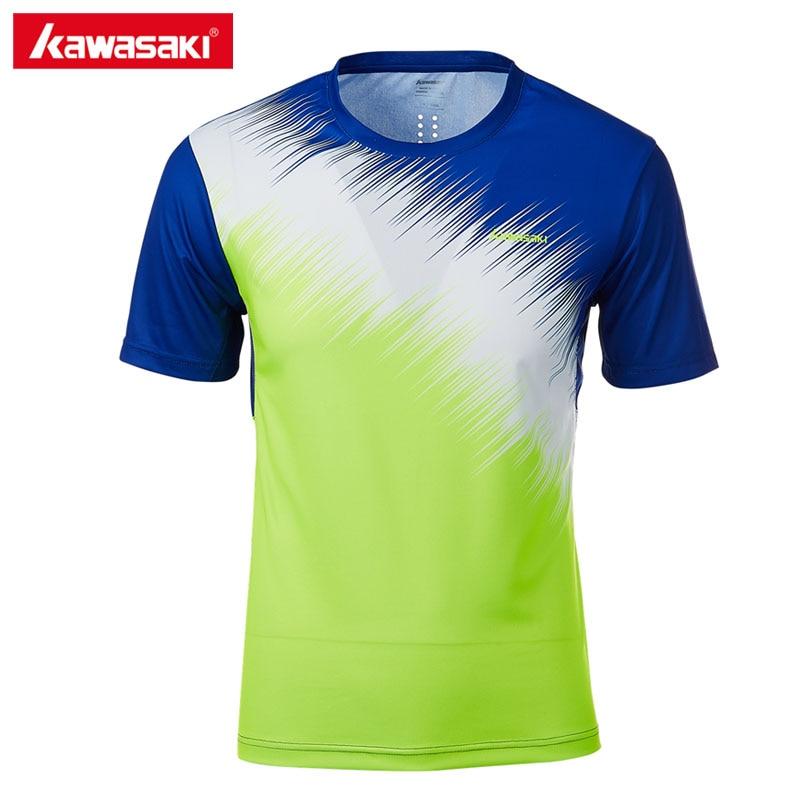 2018 Kawasaki Brand Men Sportswear ST T1026 Badminton T Shirt Breathable O Neck Short sleeve Tennis