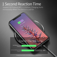 Wireless Charger for iPhone X 8 Plus Ultra Thin Mini Wireless Charging Pad for Samsung Galaxy S9 S8 Plus Xiaomi