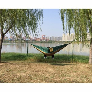 Image 5 - Solid Color Parachute Hammock with Hammock straps and Aluminum carabiner Camping Survival travel Double Person outdoor furniture