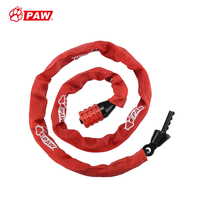 PAW bike lock 4 digit password anti theft bicycle chain lock suitable for lock bike motorcycle electric scooter bicycle lock