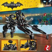 New DIY Model Building 775Pcs Genuine Batman Movie Series The Scuttler Bat Spaceship Set Building Blocks Bricks Toys Lepin