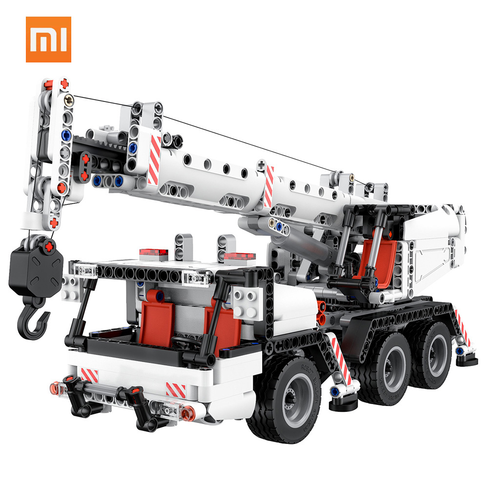 Xiaomi Mitu Building Blocks Miniature City Engineering Crane Robot Educational DIY Toys Car Truck 360 Rotating Control Steering-in Smart Remote Control from Consumer Electronics    1