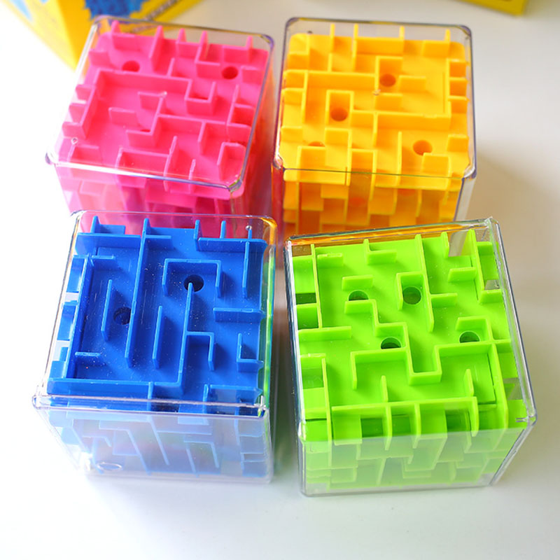 8 * 8 * 8cm 3D Maze Puzzle Cube Puzzle Speed Cube Puzzle Game Labyrint Rolling Ball Hračky Cubos Magicos Maze Ball Games