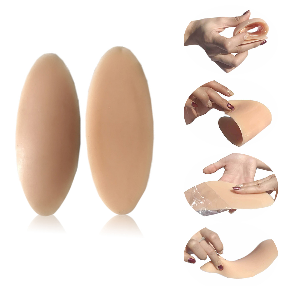 1 Pair Anti Allergic Leg Onlays Lifelike Odorless Shaping Sleeves Adhesive Pad Stretch Soft Silicone Accessory Calf Corrector