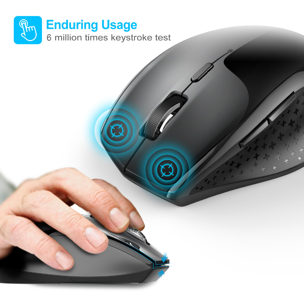 Image 5 - TeckNet Alpha Ergonomic Mice 2.4GHz Wireless Mouse Silent Button with USB Nano Receiver for Laptop Computer 3000/2000/1600/1200-in Mice from Computer & Office