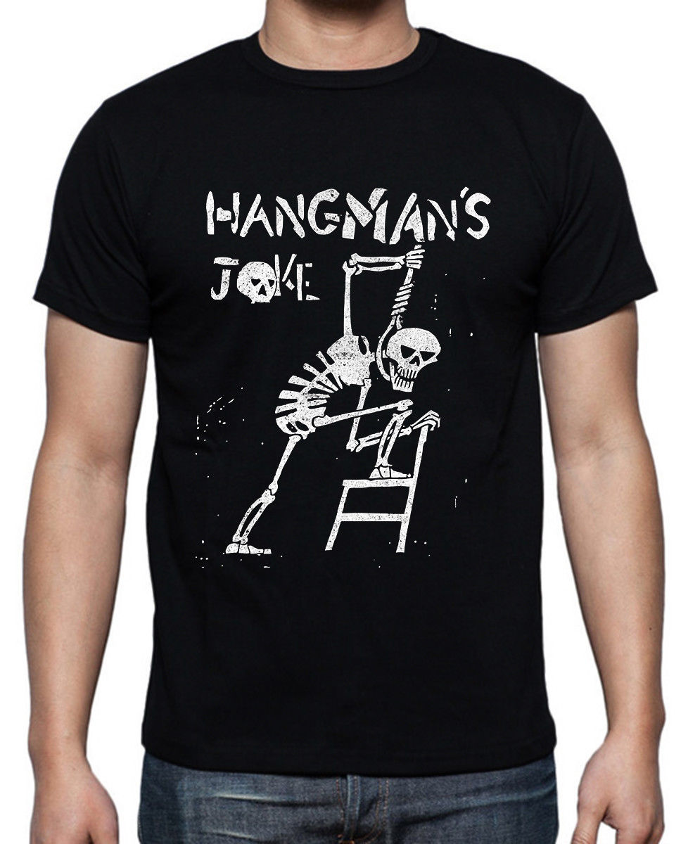Hangmans Joke Band Classic Vintage Black T-shirt Size S To 3XL Top Quality 2018 New Brand MenS New Fashion MenS T Shirt
