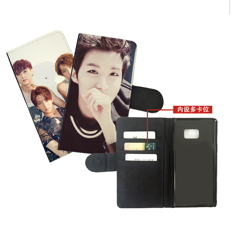 Custom design Leather flip wallet mobile phone cell case cover personalized for samsung galaxy note 2 3 4 5 7 8 9 10 plus