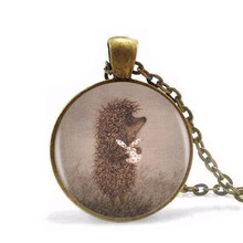 New Steampunk 1pcs/lot Hedgehog In The Fog Silver Pendant Necklace Long Chian Statement Handmade Fashion Necklace For Women