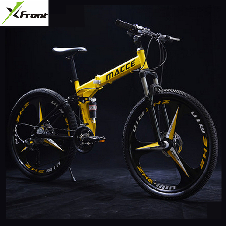New brand 24/26 inch wheel carbon steel 21/24/27 speed mountain bike outdoor downhill BTX bicicleta disc brake folding bicycle image