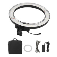 55W 18 Inches Ring Light 480 Pcs LED Anchor Live Light Ring Video Lamp with Filter Set for Makeup Camera Phone Video Shooting