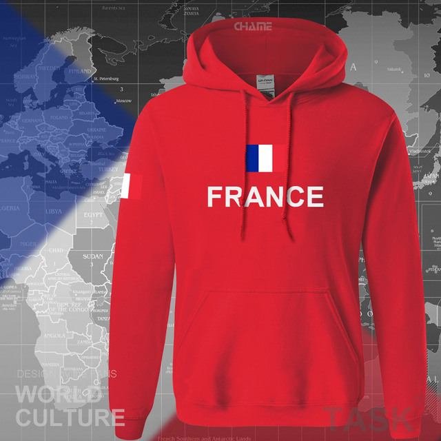 France hoodies men sweatshirt sweat new hip hop streetwear clothing jerseys FRA loose tracksuit nation French flag fleece FR 3