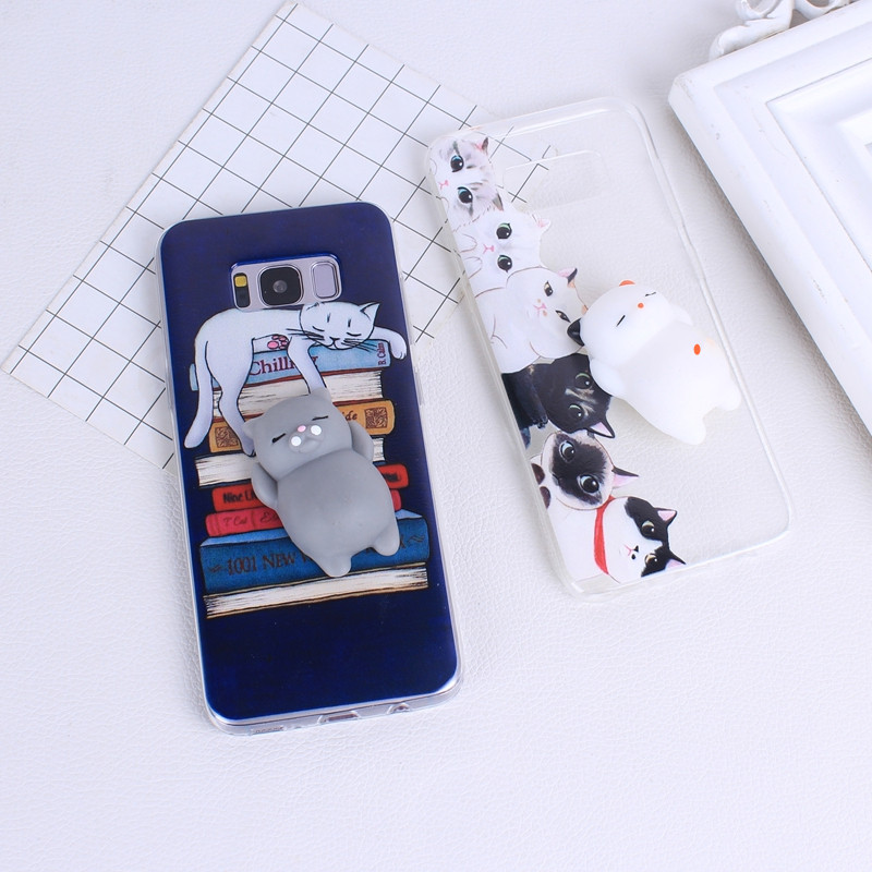 S8 Squishy Case 3D Silicone for Samsung Galax S8 A5 2017 Cases Cartoon Cute Soft Silicon ...