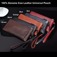 Genuine Cow Leather Hand Strap Mobile Phone Pouch Case Bags For Nokia 7 plus,Zopo,ZTE,For Asus,For Meizu,Blackview,Umi,Ulefone