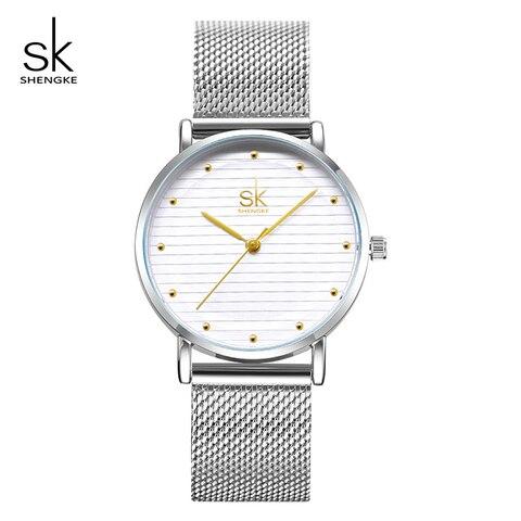 Shengke Luxury Quartz Women Watches Stainless Steel Ladies Wrist Watch Reloj Mujer 2019 SK Cheap Fashion Watches For Women Lahore
