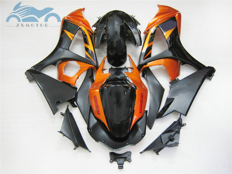 High quality Fairing <font><b>kits</b></font> for <font><b>Suzuki</b></font> GSXR 1000 <font><b>GSXR1000</b></font> 2007 2008 K7 <font><b>K8</b></font> motorcycle street fairings <font><b>kit</b></font> 07 08 orange black GS26 image
