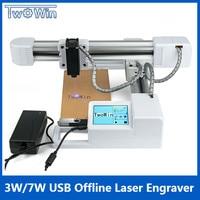 3 Вт/7 Вт USB Off line лазерный гравер рабочая область 15,5x17,5 см DIY логотип Mark принтер большая мощность CNC лазерная гравировальная машинка