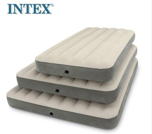 INTEX nouvelle ligne de luxe tirer unique matelas gonflable lit d'air Camping tapis épais voiture coussin 64707 avec ménage pompe électrique