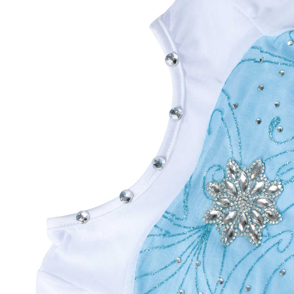 6e8fb12b65 3-10T Girls Elsa Dress Snow Queen Clothes Cartoon Party Cosplay Costume  Kids Long Sleeve Glitter Cloak Princess Dress With Cape