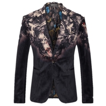 Formal suits for Men Machine printing Blazer Fashion suits Male blazers Men Suits personality blazer High-quality Gent Life