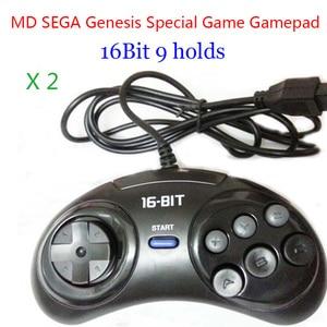 Image 1 - 2 個 md セガゲームパッド 16bit セガジェネシスゲームコントローラ 9 穴セガジョイパッド高品質よい価格ゲームアクセサリー