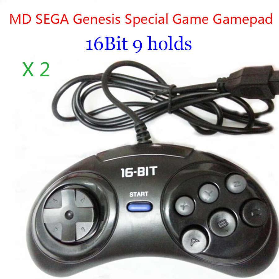 2 pcs MD SEGA Periferiche e Controller per Videogiochi 16bit Sega Genesis controller di Gioco 9 Fori Sega Joypad di alta qualità buon prezzo Accessori del Gioco