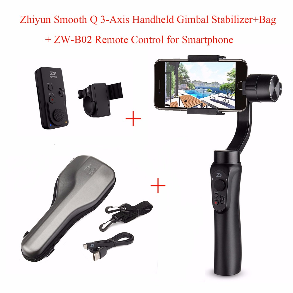 Zhiyun Smooth Q 3-Axis Handheld Gimbal Stabilizer for Smartphone/IPhone 7 Plus 6 Plus/Samsung Galaxy S7 S6 S5,Smooth Q + ZW-B02 все цены