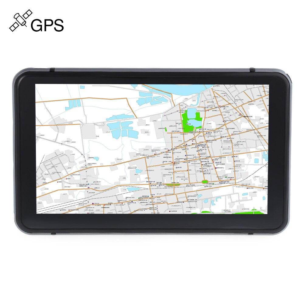706 7 pulgadas camión Navegador de navegación GPS Win CE 6,0 800x480 pantalla táctil muti-media player con mapas gratis