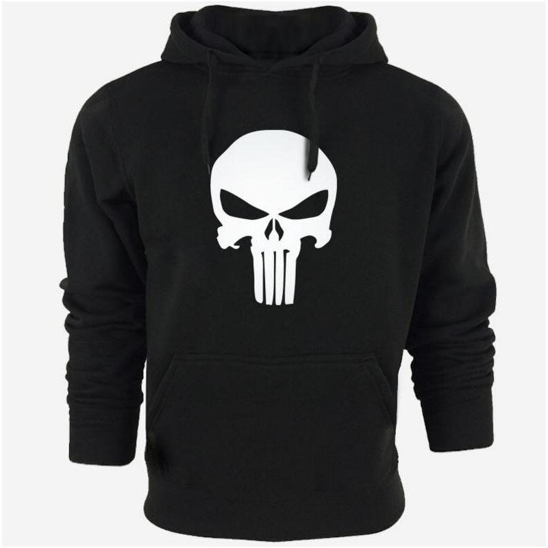 Película Punisher Hoodies de Los Hombres 2016 Marca Hombre Hoodie Letras Palabra Impresa Sudadera Para Hombre Chándal Moletom masculino Hoodies Delgados