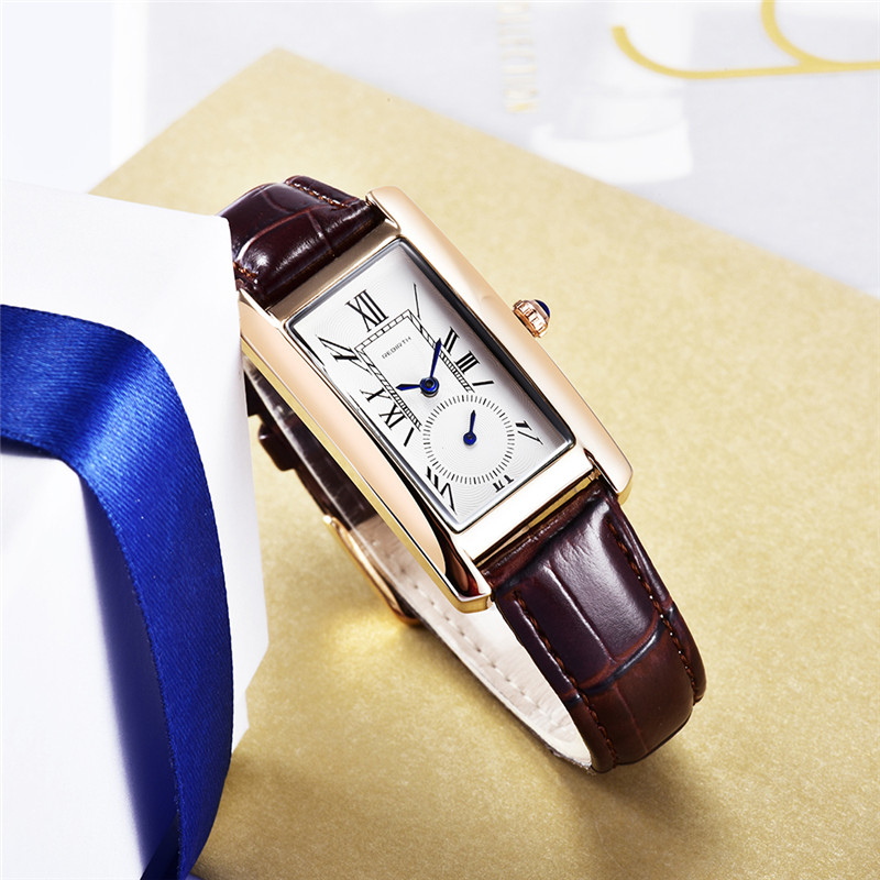 REBIRTH New Quartz Watch Women Leather Bracelet Fashion Wristwatches Ladies Vintage Business Watches Female Clock Montre Femme передняя светодиодная фара 1вт d light cg 122p