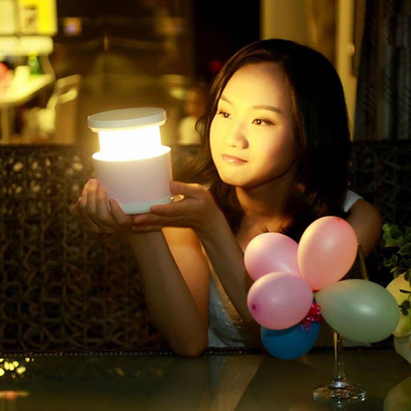 Creative colorful telescopic lamp LED intelligent Nightlight Nightlight USB charging Home Furnishing gift lamp new atmosphere кашпо gift n home сирень