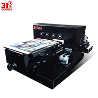31Degree New A3 UV Color Inkjet Printer Flatbed T Shirt Printing Machine 3d Emboss Phone Case Metal/Wooden/PVC Printers