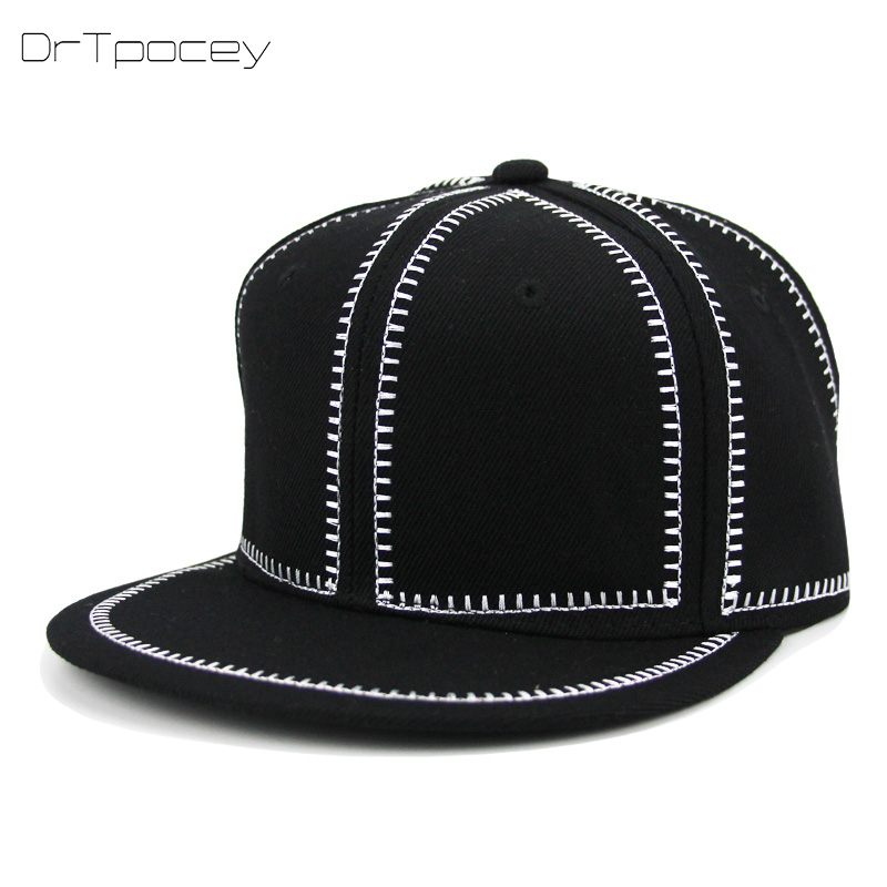 6 Panel Adjustable Snapback Cap Hip Hop Cap Casquette Snap Black Fashion Baseball Cap Gorras Men Sports Snapback Hat Women Bone